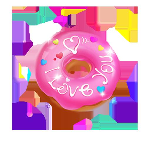 红⑦队:大乔陪玩收到礼物可爱甜甜圈